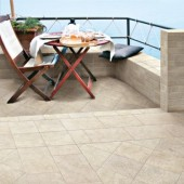outdoor tiled deck